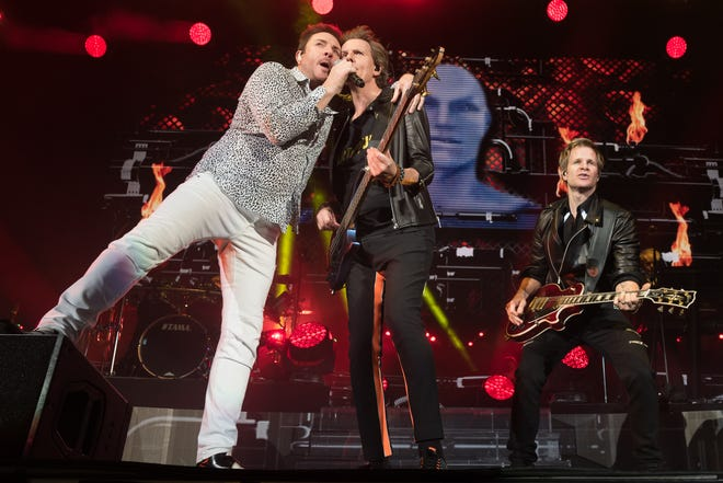 Duran Duran performs in concert at the Austin360 Amphitheater at Circuit of the Americas on April 22, 2016. They'll headline the final night of ACL Fest this year.