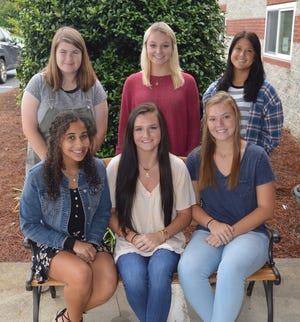 (Seated left to right) Tala Hunt, Brooke Hughes, Raven Davis, (back row) Katrina Hennessy, Anna Evans and Lexi Kirk are the candidates for Thomas Jefferson Academy's 2021 homecoming queen.