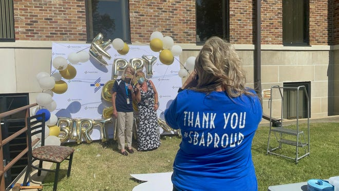 Appreciation Team members wore #SBAProud t-shirts and took photos during the event.