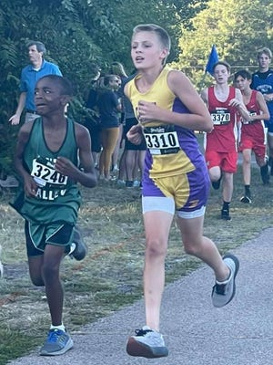 Pictured is Dane Grzanich, a member of the IMS Cross Country team.
