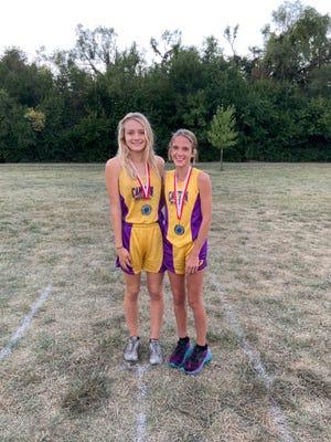 Pictured are medalists Ella Bruketta and Liva Knowles.
