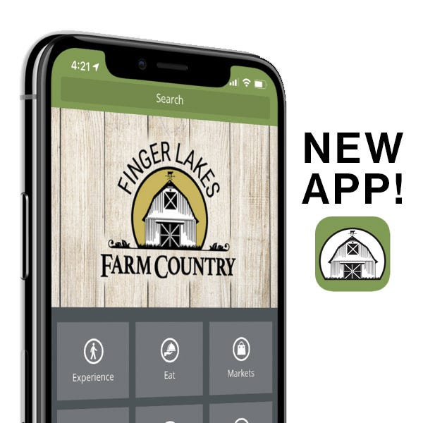 Finger Lakes Farm Country's new app can lead you to over 200 farm experiences and products in a five-county area of the southern Finger Lakes.