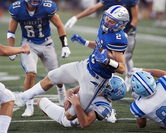 Olentangy Liberty's Chase Brecht also rushed for137 yards and a touchdown Sept. 17 in a 34-3 victory over Westerville Central.