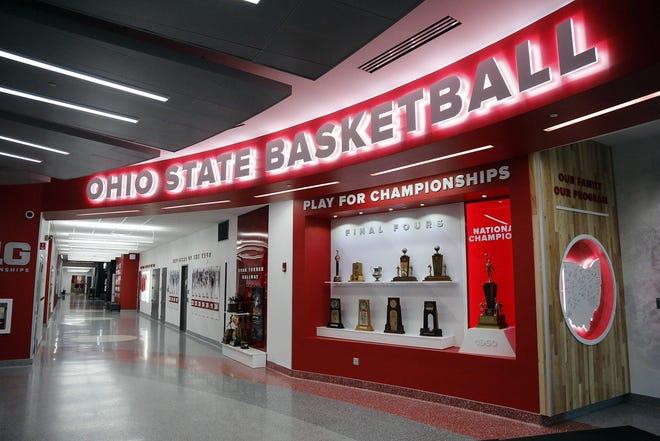 Inside Schottenstein Center on the campus of Ohio State University.