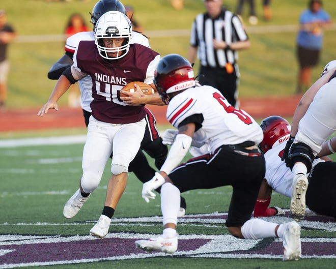 Ethan McGlone has stepped in at running back for Canal Winchester after injuries to Stephan Byrd and Myles McKee. McGlone responded by rushing for 115 yards and two touchdowns on 11 carries in a 68-0 win over Franklin Heights on Sept. 17. The Indians will play at Dublin Scioto in an OCC-Capital game Sept. 24.