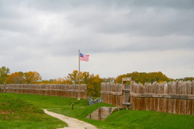 Fall is an especially pretty time to visit Fort Meigs, located on the banks of the Maumee River.