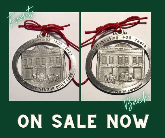 The Central Fire Station is featured in the third ornament in the Dover400 collector's series.