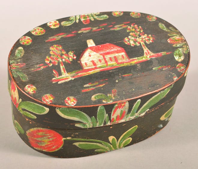 This bentwood box, 4 x 9 x 6 inches, sold for $4,260, more than four times its estimate.