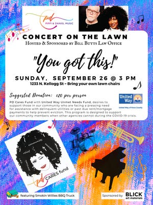 Delivering musical entertainment with a dash of fundraising, a fifth Concert in the Yard is set for 3 p.m. Sunday, Sept. 26, on North Kellogg Street.