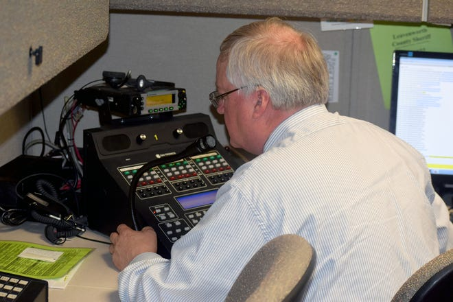 Leavenworth County Emergency Management Director Chuck Magaha participates in a statewide tornado drill in 2020. This month is recognized as National Preparedness Month.