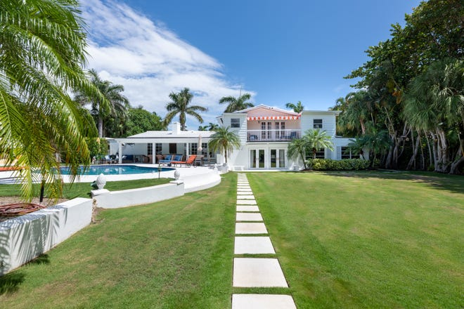 Built in 1950, a house at 248 Via Marila in Palm Beach has changed hands for a recorded $9.86 million after selling a little more than a year ago for $4.8 million.