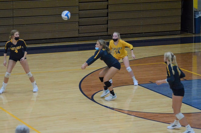 Gaylord volleyball loses to TC Central in straight sets. The Blue Devils fought hard giving their best effort in a long third set 25-22 loss.