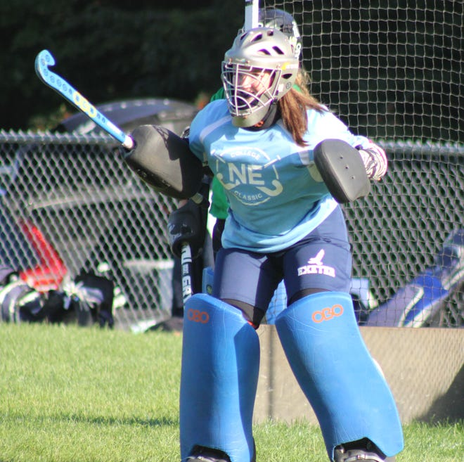 The Exeter High School field hockey team, led by senior captain and goalie Clara Gorham, has allowed just four goals in nine games this season.