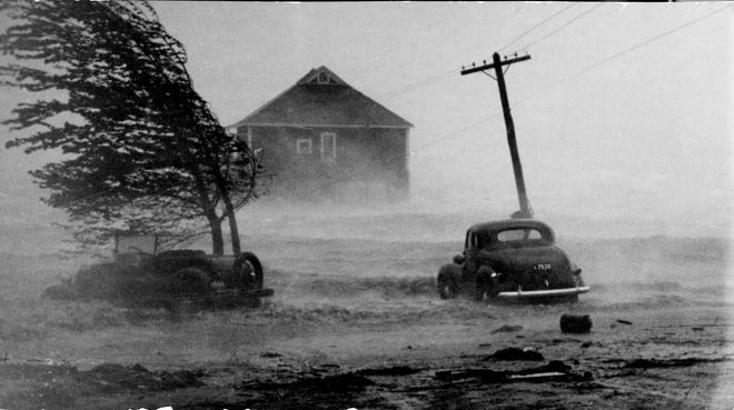 The Hurricane of 1938 completely washed away the clubhouse of the Washington Park Yacht Club in Providence shortly after this photo was taken.