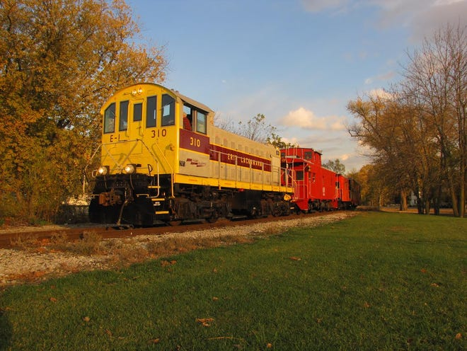 The Hoosier Valley Railroad Museum will begin its fall train excursions on Oct. 2, 2021, with rides offered Saturdays aboard open-air train cars or a vintage coach through rural farm country and wooded areas.
