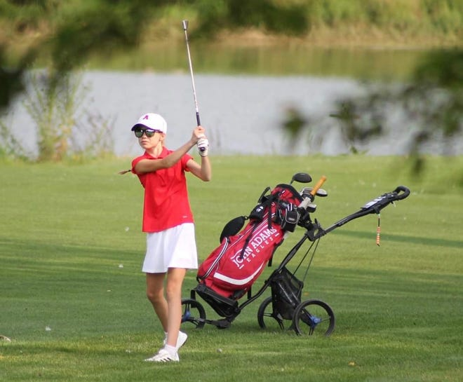 Katherine Swain makes a shot in a recent match. The Eagles will play Friday in the East Noble Regional for the first time since 2015.