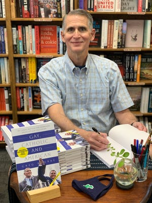 """University of Notre Dame alumnus Greg Bourke will sign copies of his new book, """"Gay, Catholic, and American: My Legal Battle for Marriage Equality and Inclusion,"""" on Oct. 1 and Nov. 19, 2021, at the Hammes Notre Dame Bookstore."""