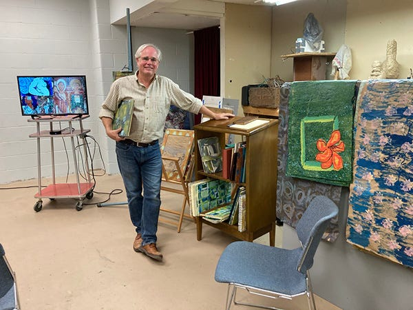 """Eric Lease Morgan will teach the workshop """"Renaissance-style Bookmaking"""" on Saturdays from Oct. 3 to 31, 2021, at Fire Arts Inc. in South Bend."""