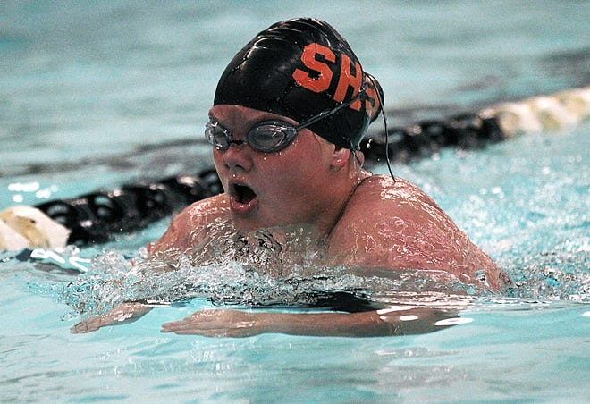 Chloe Clark swims in the 200 individual medley for Sturgis on Tuesday evening.