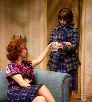 """Meghan McDonald (left) and Nanouri Winchester star in UNCW Theatre's production of """"A Taste of Honey."""""""