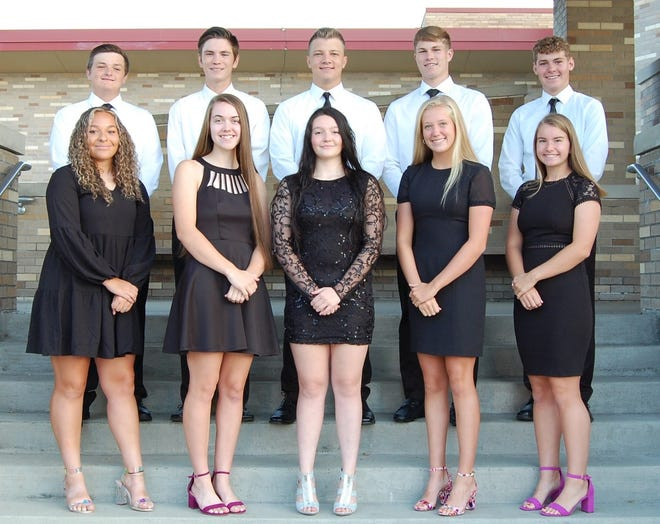 Rockwood Area High School 2021 Homecoming celebrations will take place on Friday from 5-9 p.m. The Homecoming court candidates are, front row (left to right): Shakhia Conn, Kaitlyn King, Sophie Kinney, Kaitlyn Pletcher and Madison Putman. Homecoming court escorts are, back row (left to right): Nico Hager, Evan May, Andrew Weaver, Jack Pletcher and Brandon Rhodes.