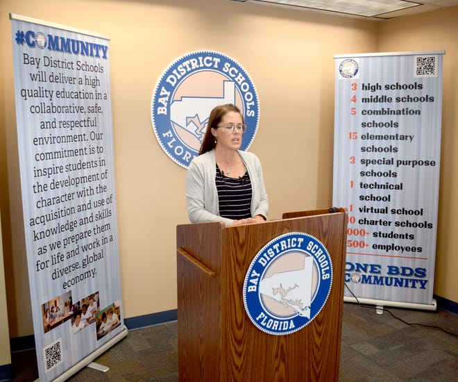 In a press conference on Wednesday, Lyndsey Jackson, supervisory nurse for Bay District Schools, announced that students who are asymptomaticno longer have to quarantine from school after coming in contact with someone who has COVID-19.