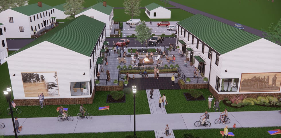 The Barracks at Chaffee will turn old Fort Chaffee U.S. Army barracks into a live, work and play community featuring apartments, social areas and businesses.