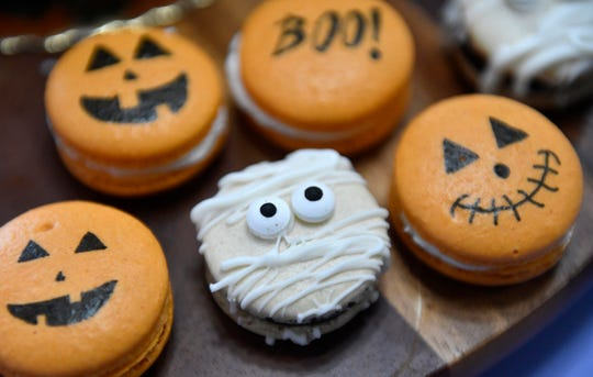Anirudh Mamtora creates spooky macarons in his Cherry Hill kitchen for the holiday.