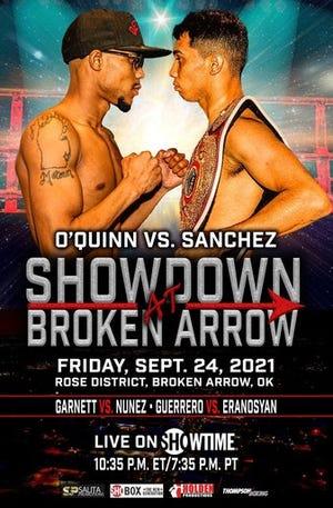 Jayvon Garnett faces Luis Reynaldo Nuñez in Friday's co-main event with the O'Quinn-Sanchez bout in Broken Arrow, Oklahoma.