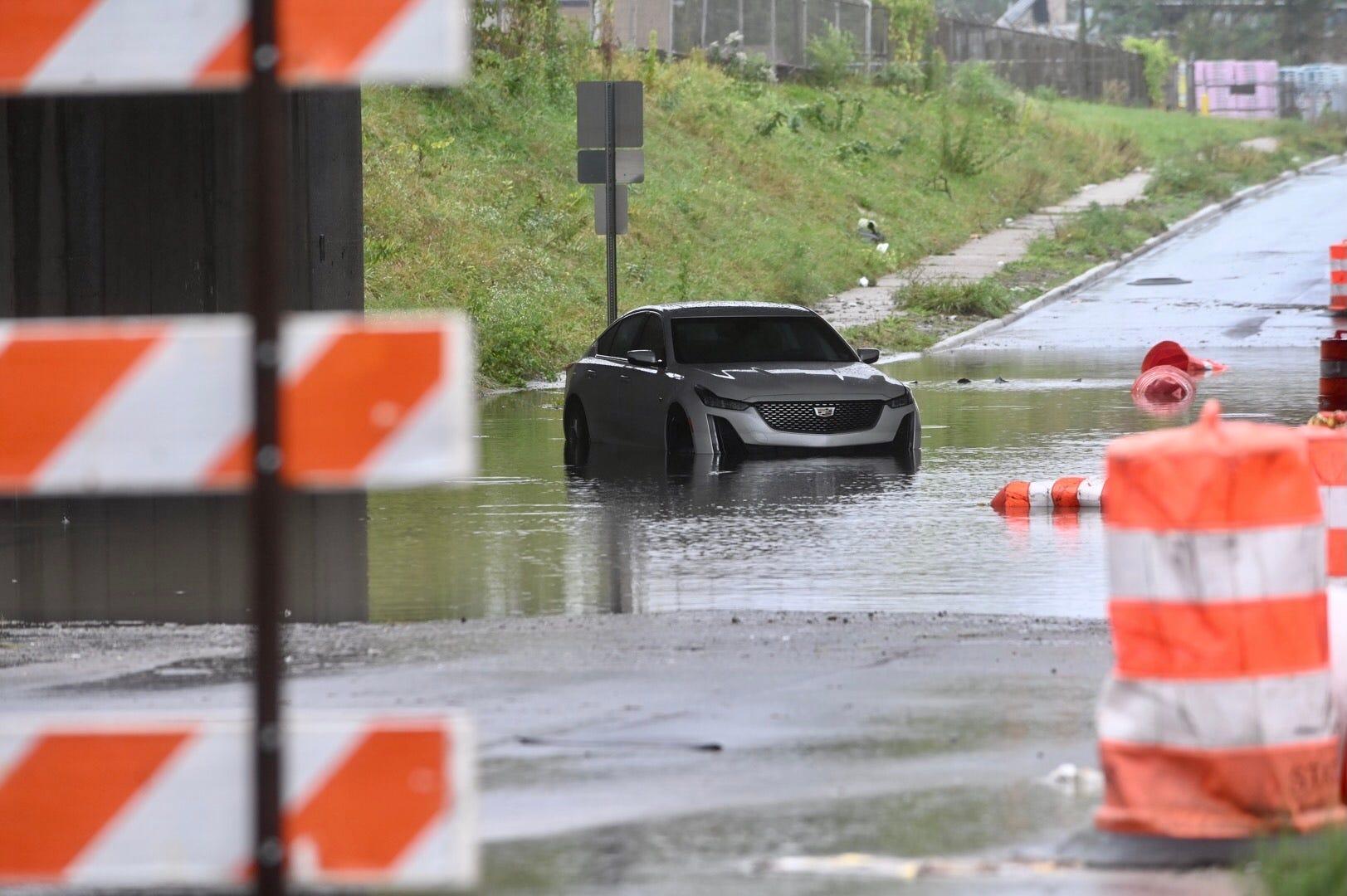 Local roadways flood Wednesday; rains to continue overnight