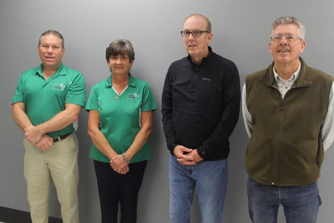 From left, Tom Bowlus of the Sandusky County Communities Foundation, SCCF Executive Director Laurie Young, Marc Schulz of the Fremont Ross Alumni and Friends Scholarship Fund, and fellow fund team member Rod Opelt hope the new scholarship will be available in the near future.