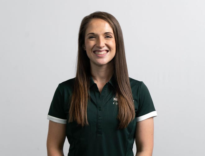 MSU head football performance dietician Amber Rinestine has received constant praise from the players for her work with them, which paid of in the heat in Miami.