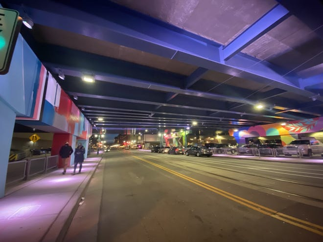 A program that added aesthetic lighting and public art beneath I-794 in downtown Milwaukee has won an international award.