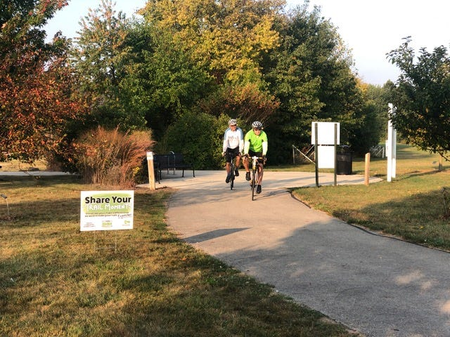 Saturday's Raintree Ride starts at the Wilbur Wright Trailhead at the Henry County YMCA. All are welcome and those who ride can decide on the 6, 30 or 60 mile ride. Registration is at 8 am. The Ride begins at 8:45 a.m. This is an annual event hosted by Healthy Communities of Henry County.