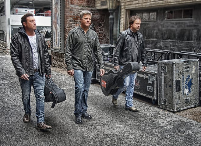 The Frontmen of Country tour -- featuring Tim Rushlow of Little Texas, left, Richie McDonald and Larry Stewart -- makes a stop this weekend at the Farmington Civic Center.