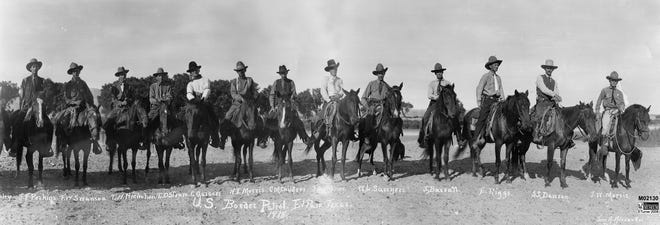 Mounted Guards/Watchmen from 1918, precursor to the Border Patrol.