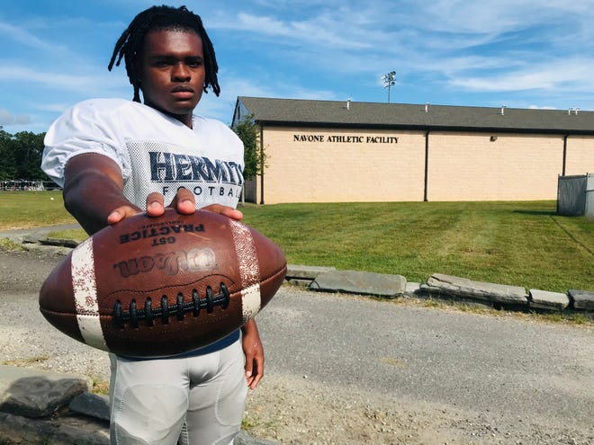 St. Augustine senior running back Kanye Udoh has already matched last year's production despite playing three less games.