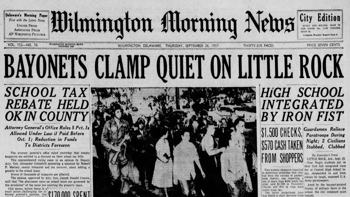 Pages of history: From The News Journal archives, week of Sept. 26