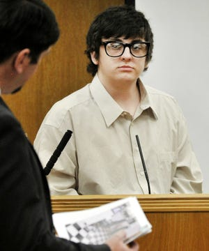 Adam Hammond testifies in his own defense in 78th District Court on Wednesday, Sept. 22, 2021.