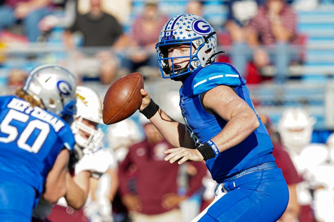 Georgetown quarterback Darson Herman, looking for a receiver during last year's playoffs, completed 12 of 19 passes for 197 yards and three touchdowns in a win over Hendrickson Friday.