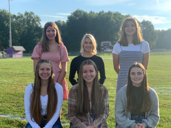 Candidates for Sebring McKinley High School fall homecoming queen are, front row from left, Kalyla Caliguire, Riley Newell and Delaney Reggi. Underclass attendants are, from left, freshman Myla Thomas, junior Sadie Barker and sophomore Blake Thomas.