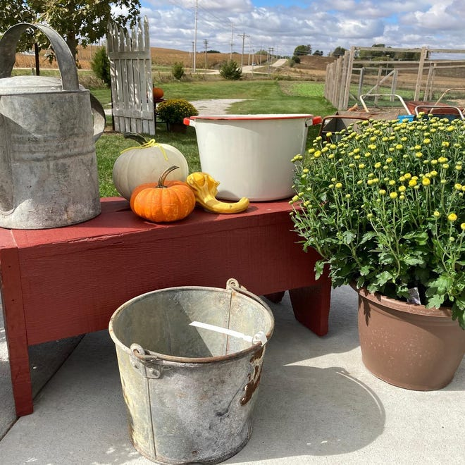 Red Granite Farm in northeast Boone County has been a stop on the Central Iowa Junk Jaunt's roadshows for about 10 years. With vintage vendors in the barn, the farm also offers pumpkins, mums and gourds this fall.