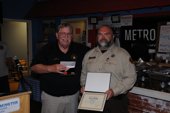 Pictured is State FOP Awards Chair Jerry Lieb and Fulton County Correctional Officer Trever Kelley.