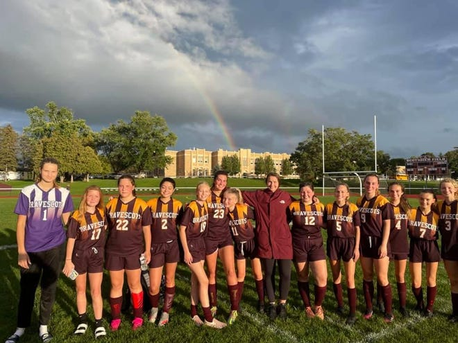 Sept. 22, Dundee-Bradford's Brave Scots girls soccer team  defeated Red Jacket 6-1, bringing Dundee/Bradford's record up to an even 3-3.