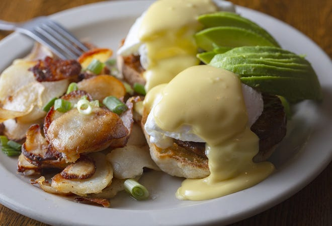 Chorizo Benedict from Clintonville's Wildflower Cafe, which is set to close on Sept. 26 after 22 years.
