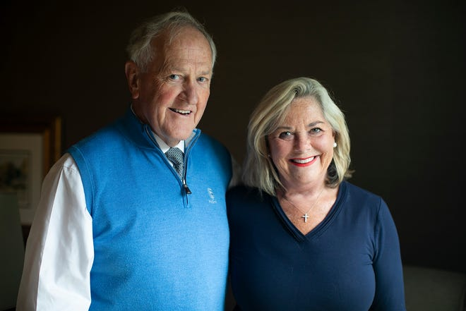 Dr. Ian Baird, pictured here with wife Becky at their Upper Arlington home, is retiring Thursday, wrapping up a 50-year career as an infectious disease doctor at OhioHealth Riverside Methodist.
