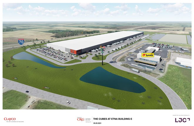 Artist's rendering of the Cubes at Etna development by CRG