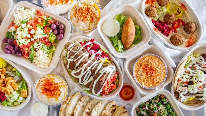 Some of the dishes offered at Zaytoon Mediterranean Grill.