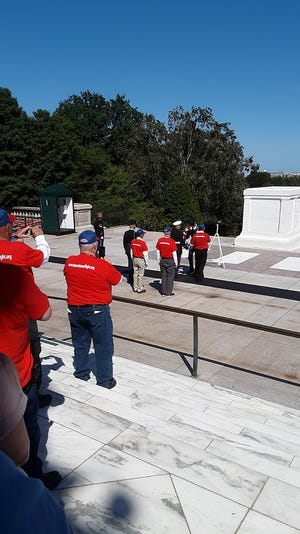 Veterans from the Kansas Honor Flight recently visited Washington D.C. where they laid a wreath at the Tomb of the Unknown Soldier.