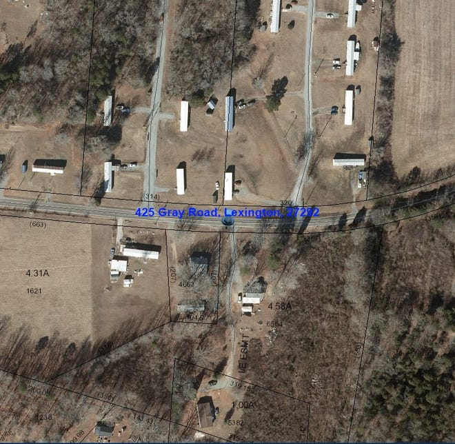 Pictured is one of four tracts of land containing mobile homes in the Southmont community that were sold recently.